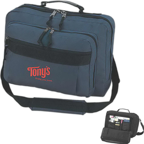 Promotional 3-way Brief/Backpack Convertible Brief/Backpack