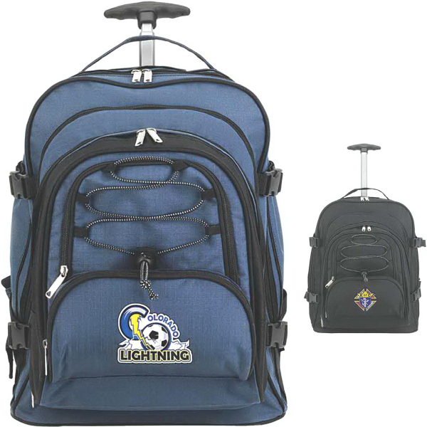 Printed EasyTravel Rolling Backpack