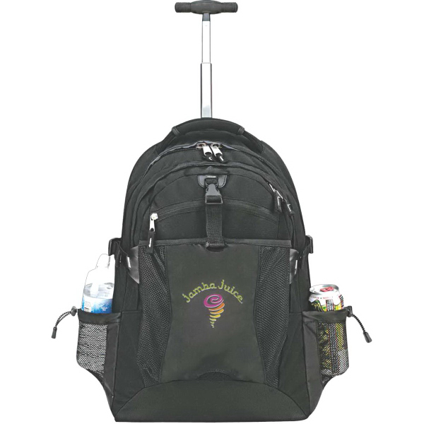 "Customized Flex wheeled 17"" laptop backpack"