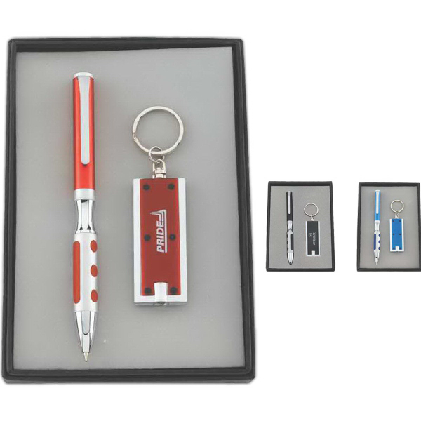 Custom Pen and Key Light Gift Set