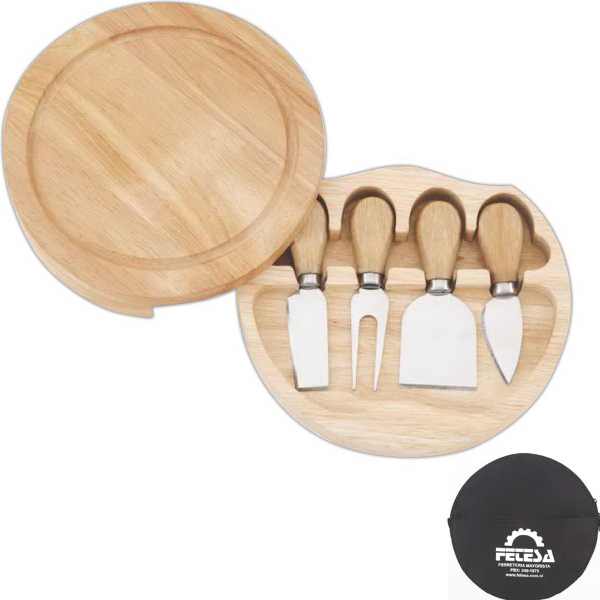 Custom Swivel Cheese Board Set