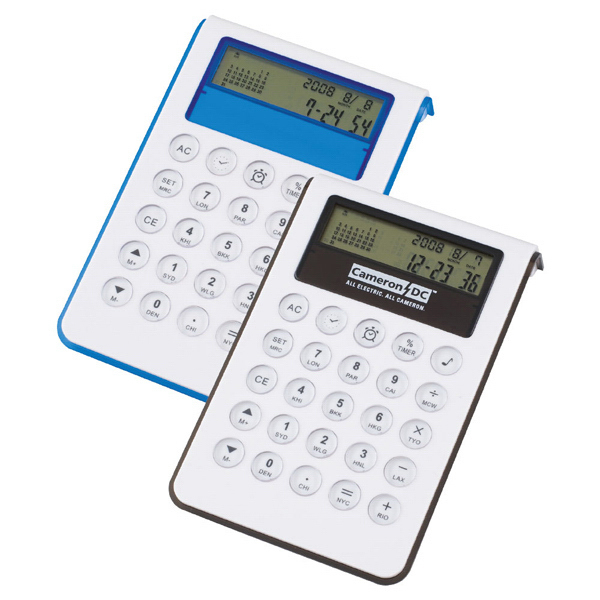 Imprinted World Time Clock Calculator
