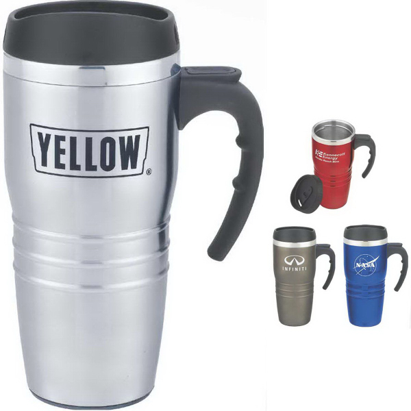 Promotional Tribune 16 oz. Double-Wall Stainless Steel Travel Mug