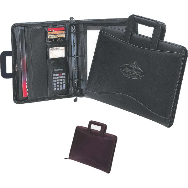 Customized Harvard Binder 3-Ring Portfolio with Retractable Handsles