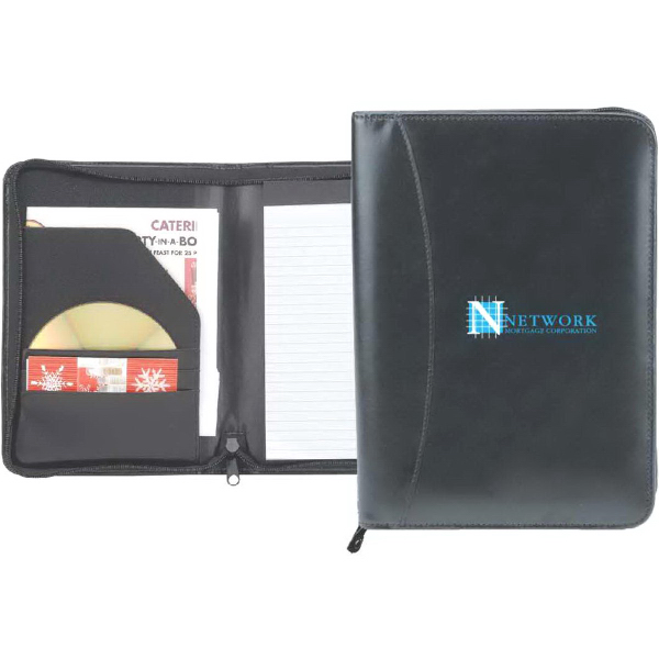 Imprinted Serenity Junior Zipper Padfolio