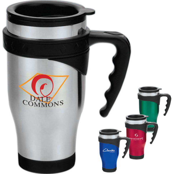 Printed Symphony 16 oz. Stainless Steel Travel Mug with Handle