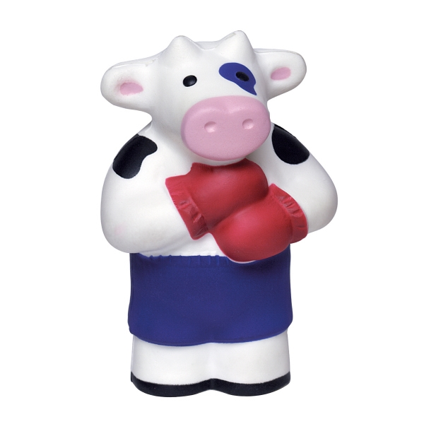 Personalized Squeezies (R) Boxing Cow stress reliever