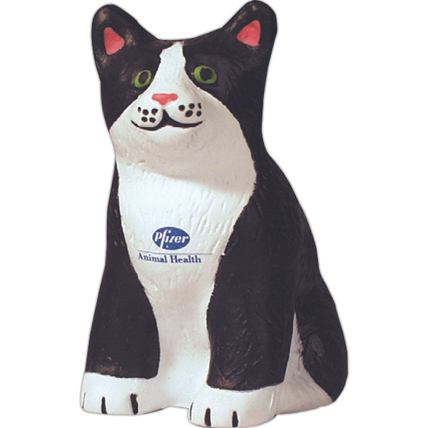 Printed Squeezies (R) cat stress reliever