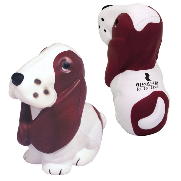 Personalized Squeezies (R) basset hound stress reliever