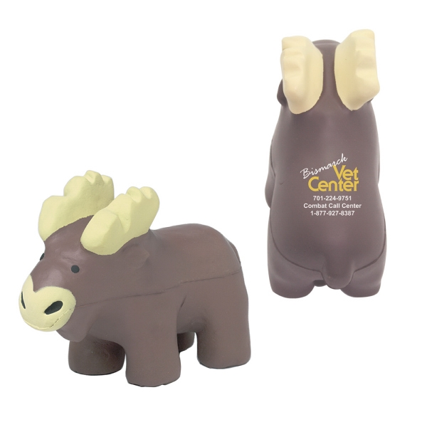 Printed Squeezies (R) moose stress reliever