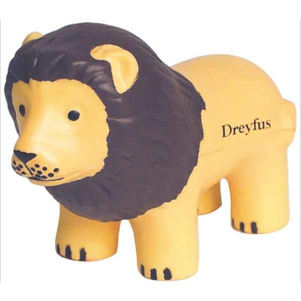 Imprinted Squeezies (R) lion stress reliever