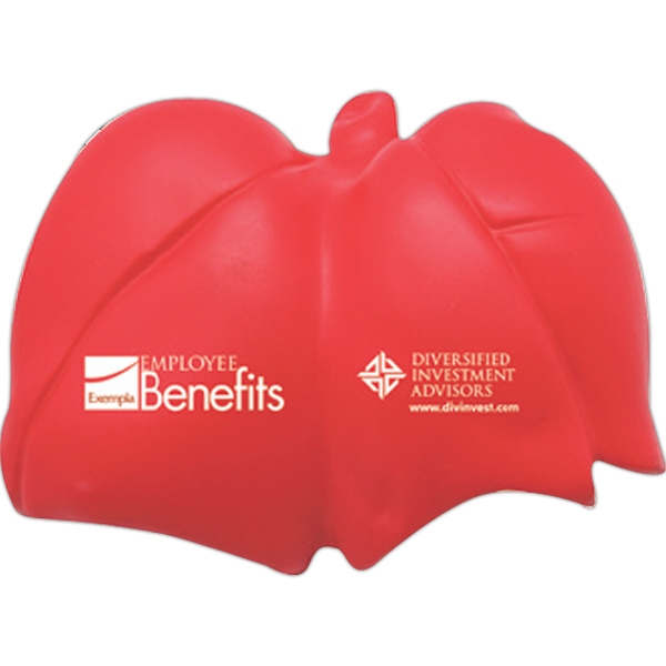 Imprinted Squeezies (R) lungs stress reliever