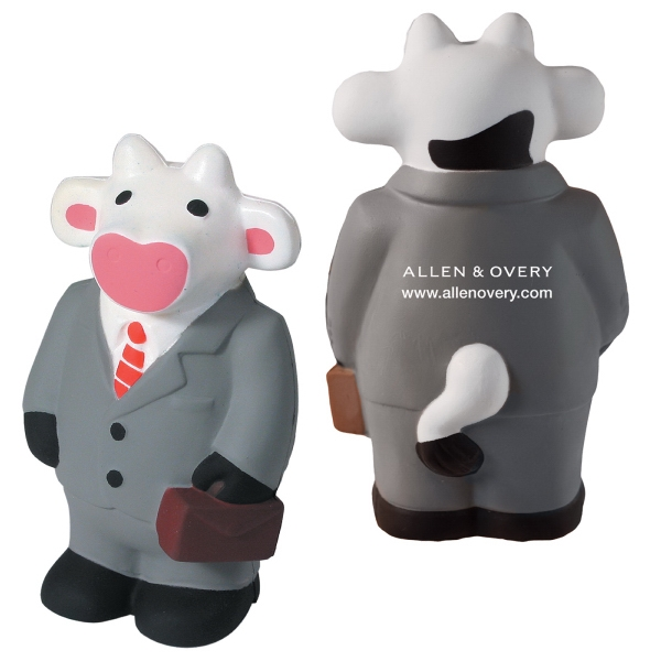 Printed Squeezies (R) Business Cow stress reliever