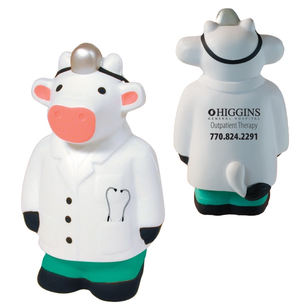Personalized Squeezies (R) Doctor cow stress reliever