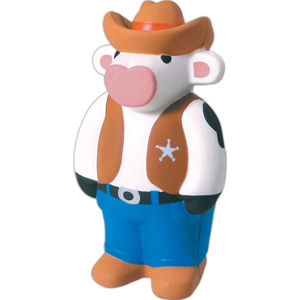 Personalized Squeezies (R) Cowboy cow stress reliever