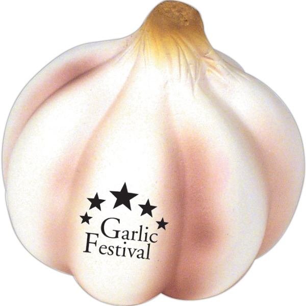 Printed Squeezies (R) garlic stress reliever
