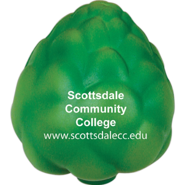 Printed Squeezies (R) artichoke stress reliever