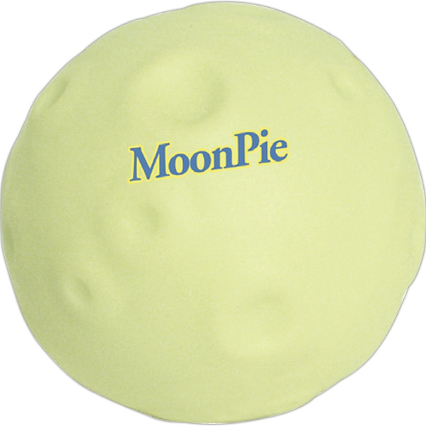 Promotional Squeezies (R) glow moon stress reliever