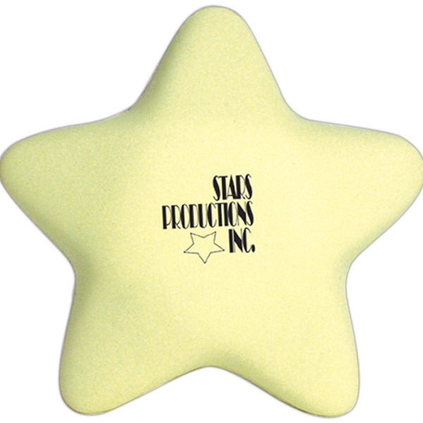 Printed Squeezies (R) glow star stress reliever