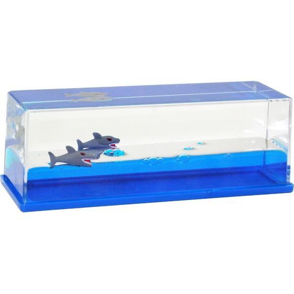 Personalized Liquid Wave Paperweight: Shark