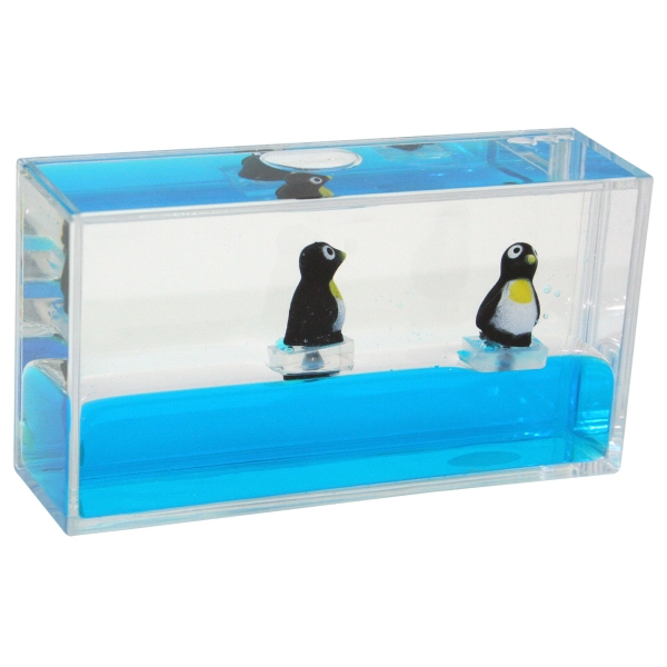 Customized Liquid Mini Wave Penguin Paperweight