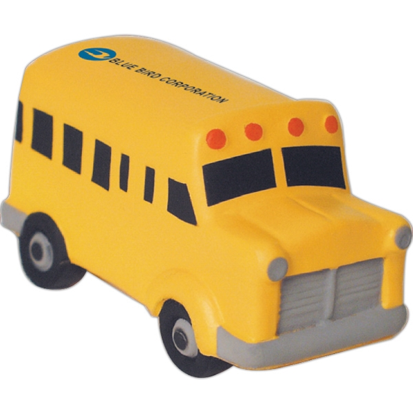 Custom Squeezies (R) school bus stress reliever