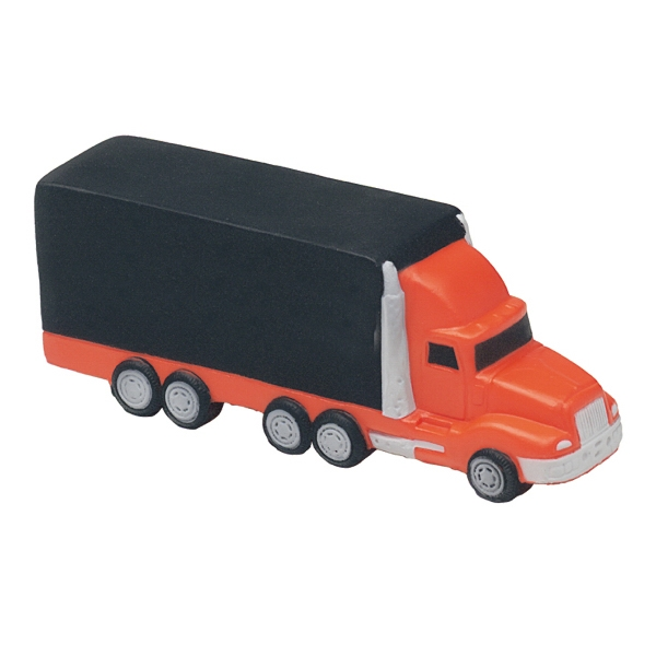 Imprinted Squeezies (R) semi truck stress reliever
