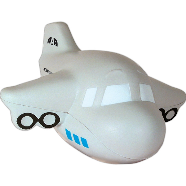 Customized Squeezies (R) airplane stress reliever