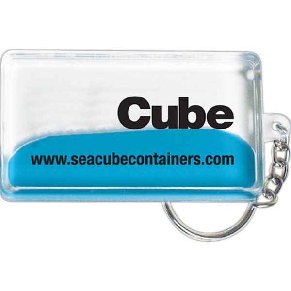 Promotional Pocket wave keyring