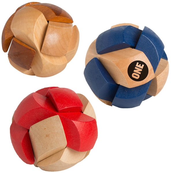 Promotional Soccer ball wooden puzzle