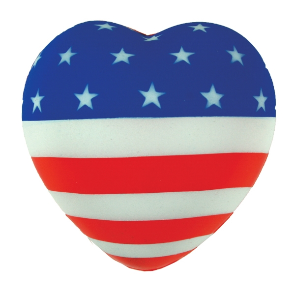 Personalized Squeezies (R) flag heart stress reliever