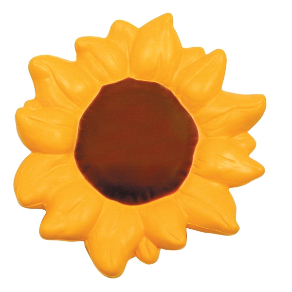 Printed Squeezies (R) sunflower stress reliever
