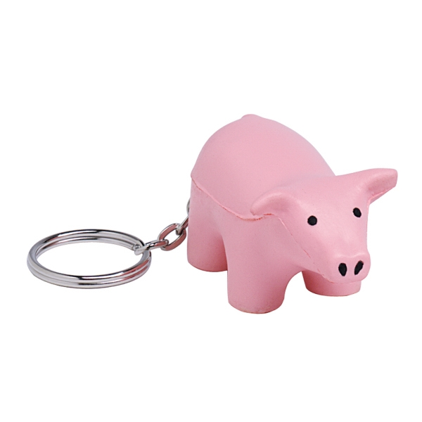 Custom Squeezies (R) pig keyring stress reliever