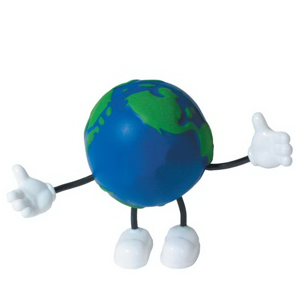 Imprinted Squeezies (R) Earth Bendy stress reliever