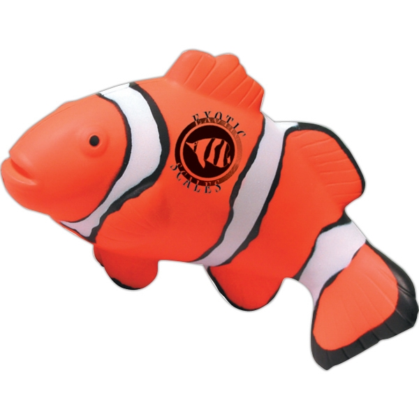 Printed Squeezies (R) clown fish stress reliever