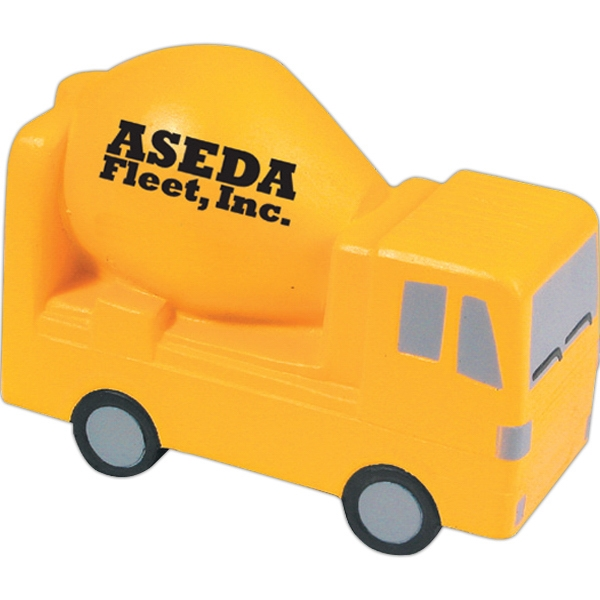 Customized Squeezies (R) cement mixer stress reliever