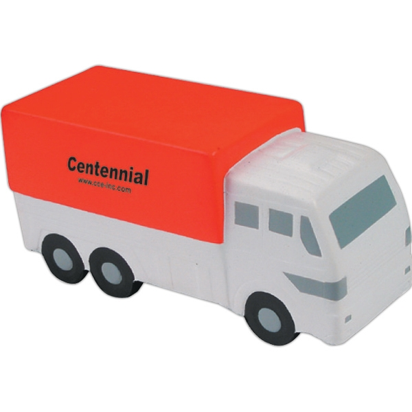 Customized Squeezies (R) delivery truck stress reliever
