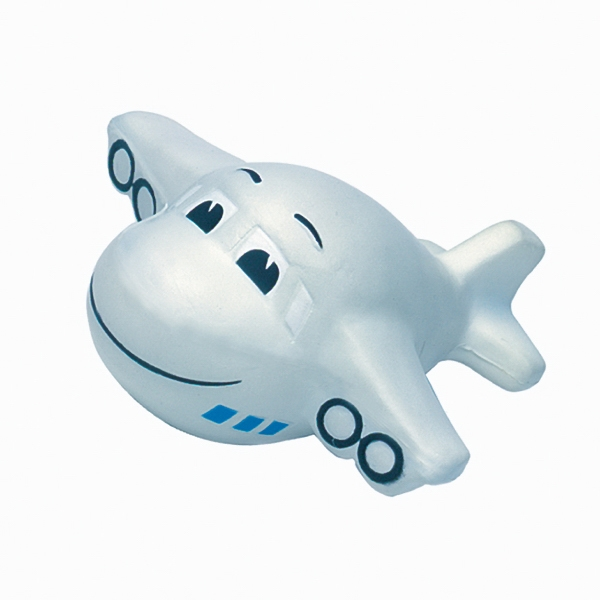 Promotional Squeezies (R) mini plane (w/ smile) stress reliever
