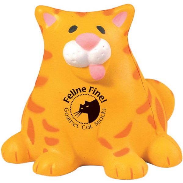 Customized Squeezies (R) fat cat stress reliever