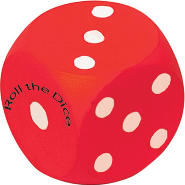 Personalized Squeezies (R) dice stress reliever