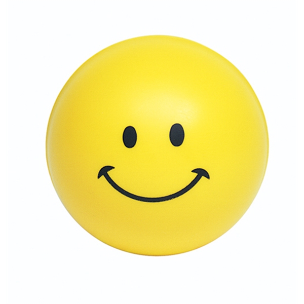 Custom Squeezies (R) smiley face stress reliever