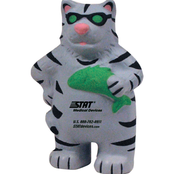 Customized Squeezies (R) happy cat stress reliever