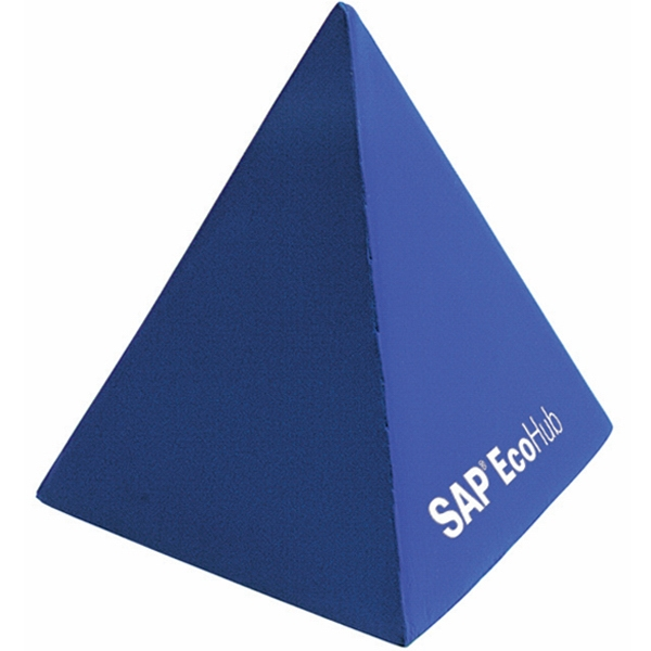 Printed Squeezies (R) pyramid stress reliever