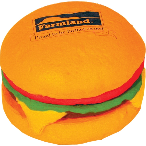 Personalized Squeezies (R) hamburger stress reliever