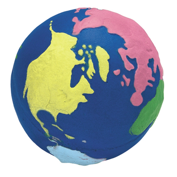 Promotional Squeezies (R) multi-color Earth stress reliever