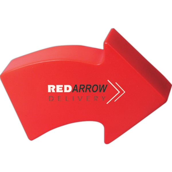 Printed Squeezies (R) arrow stress reliever