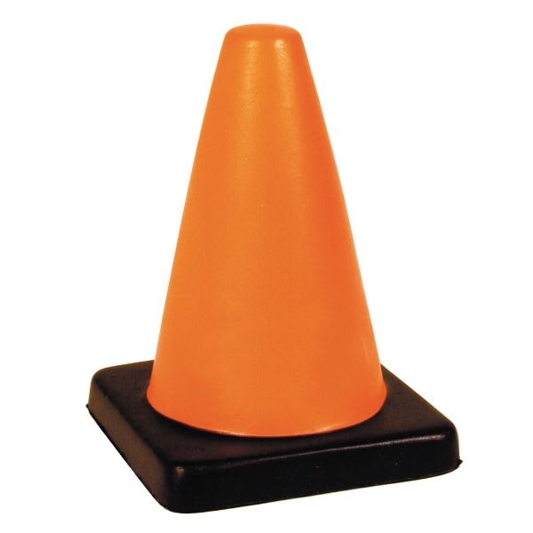 Printed Squeezies (R) traffic cone stress relievers