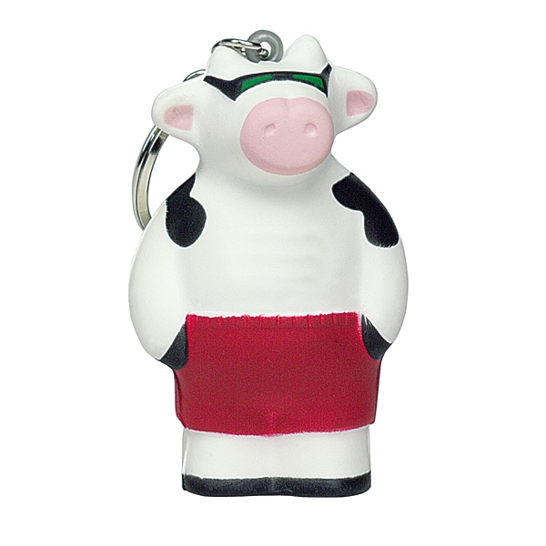 Personalized Squeezies (R) cool cow keyring stress reliever