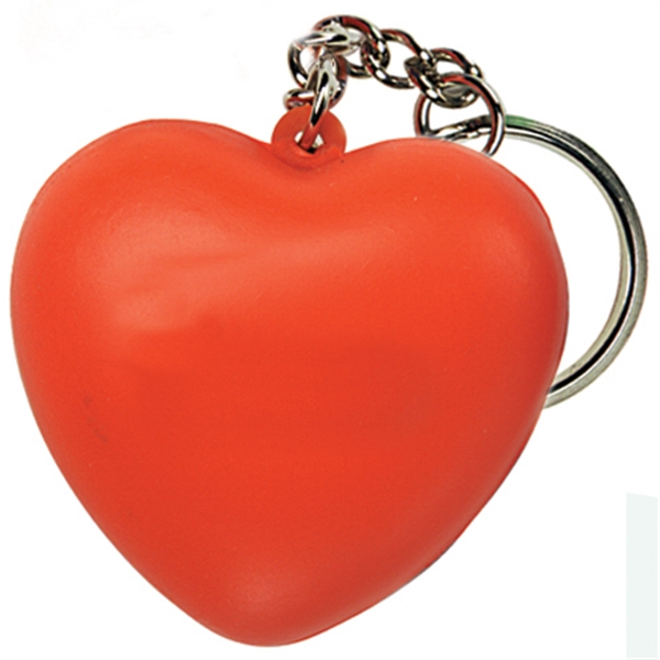 Imprinted Squeezies (R) heart keyring stress reliever