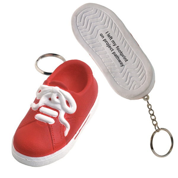 Personalized Squeezies (R) sneaker keyring stress reliever